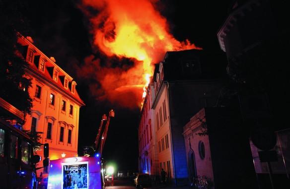 Brandnacht 2. September 2004 (Foto: Maik Schuck©Klassik Stiftung Weimar)