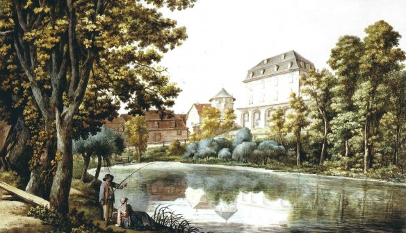 Georg Melchior Kraus Herzogliche Bibliothek Aquarell um 1800. Klassik Stiftung Weimar
