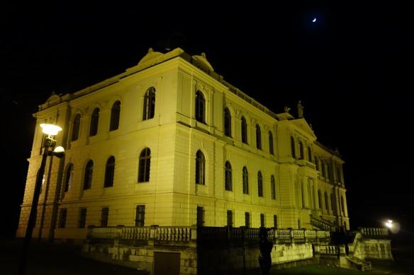Das Lindenau-Museum - noch ist es Nacht